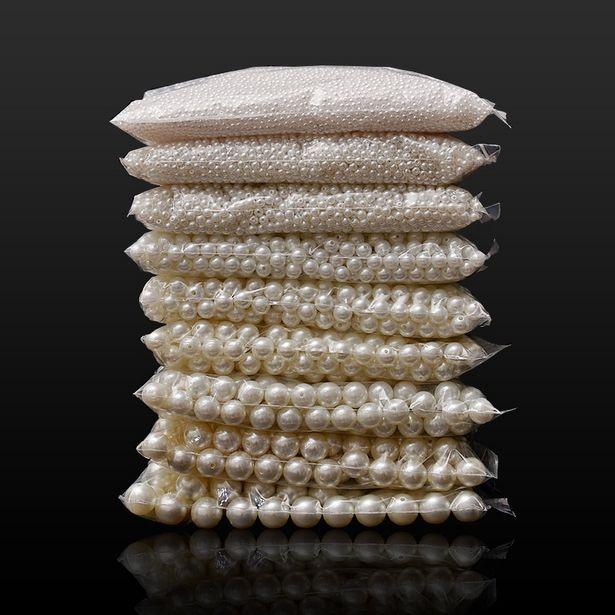 Oferta de Cuentas de perlas redondas sueltas de ABS para fabricación de joyas por 0,79€