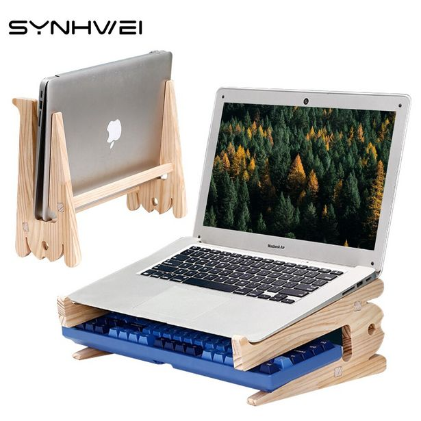 Oferta de Soporte Universal de madera para ordenador portátil por 6,88€