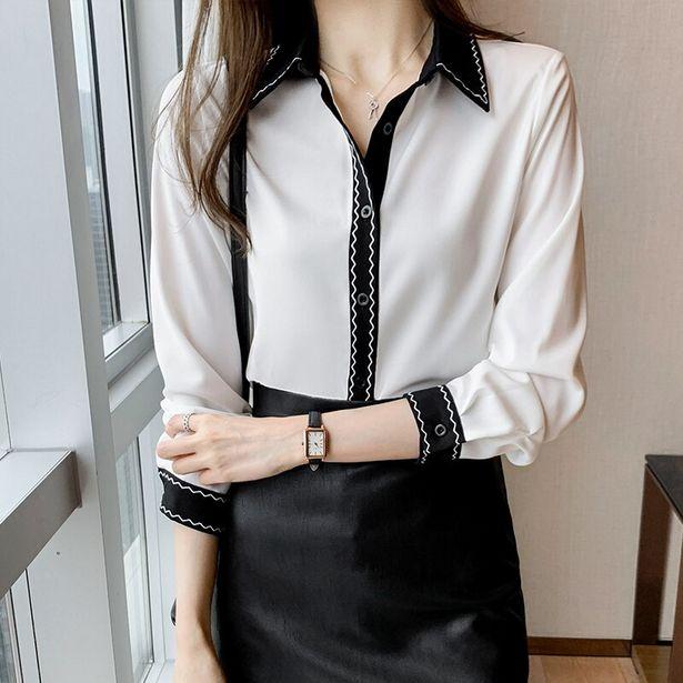 Oferta de Camisas coreanas de gasa para mujer por 15,04€