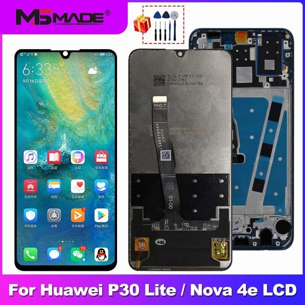 Oferta de Pantalla LCD original para HUAWEI P30 Lite por 31,79€