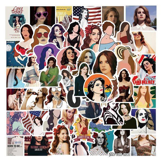 Oferta de Pegatinas de la cantante Lana Del Rey para niños por 0,33€
