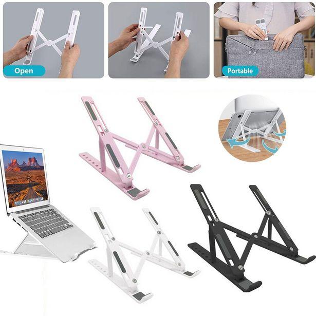 Oferta de Portátil soporte Tablet soporte de escritorio soporte plegable ajustable soporte vertical soporte portátil y Tablet Accesorios por 1,03€