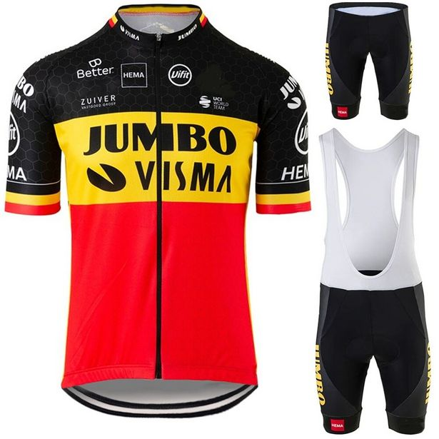 Oferta de Conjunto de ropa de ciclismo JUMBO VISMA Belgian por 13,98€