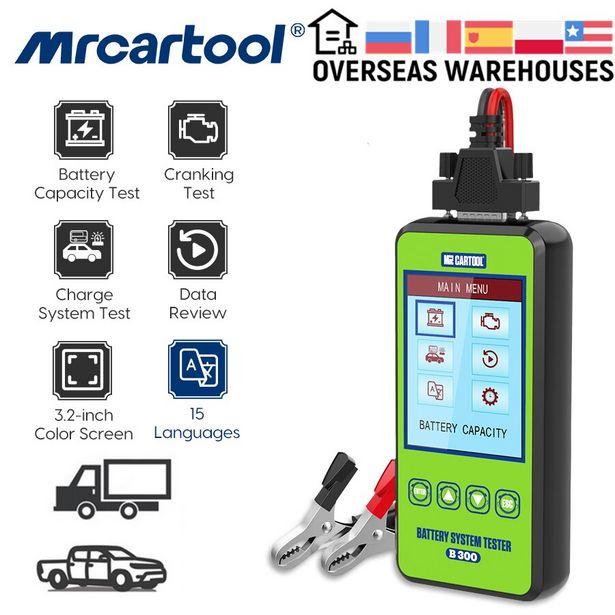 Oferta de MRCARTOOL-probador de batería de coche B300 por 38,45€