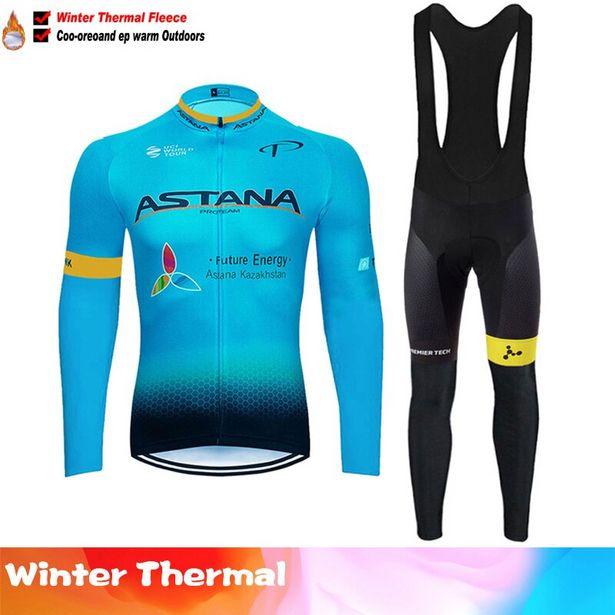 Oferta de ASTANA-Conjunto de ropa de ciclismo de invierno por 29,82€