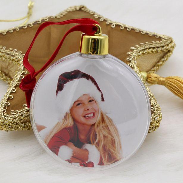 Oferta de Foto de plástico transparente de Navidad para niños por 1,71€