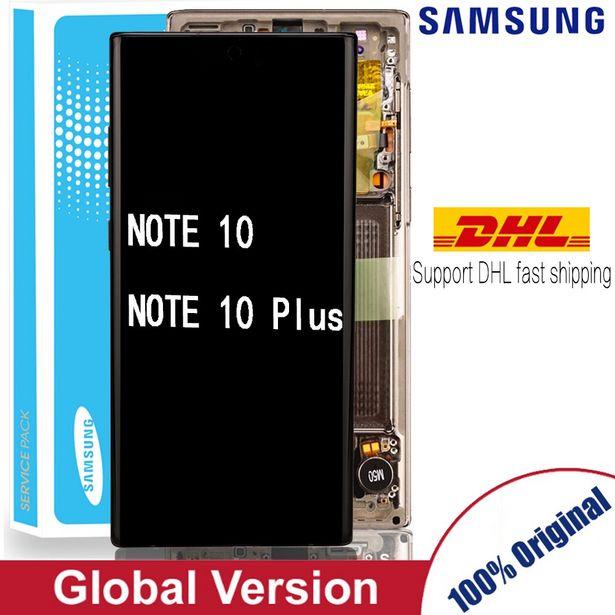 Oferta de Pantalla táctil AMOLED Original para SAMSUNG Galaxy Note 10 por 276,89€