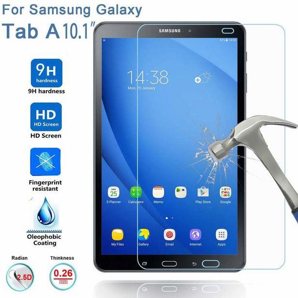 Oferta de Protector de pantalla de vidrio templado HD para tableta Samsung Galaxy Tab A por 3,46€