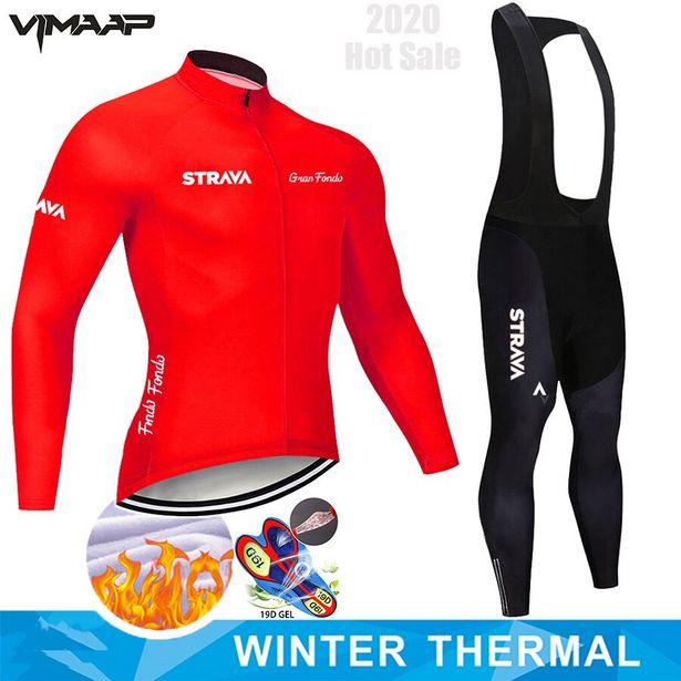 Oferta de STRAVA-Conjunto de ropa térmica de invierno para hombre por 17,13€