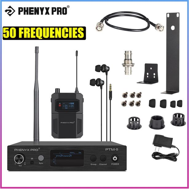 Oferta de Phenyx Pro-sistema de Audio inalámbrico Mono UHF por 170,63€