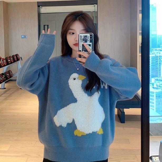 Oferta de Jersey informal de estilo coreano para mujer por 16,75€