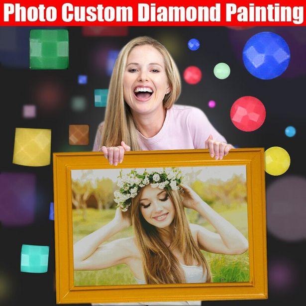 Oferta de HOMFUN-pintura de diamante personalizada 5D por 2,44€