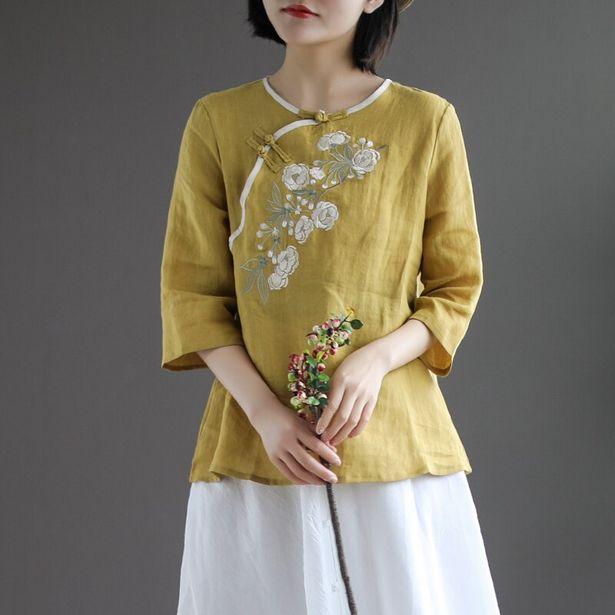 Oferta de Camisa Retro con hebilla para mujer por 14,35€