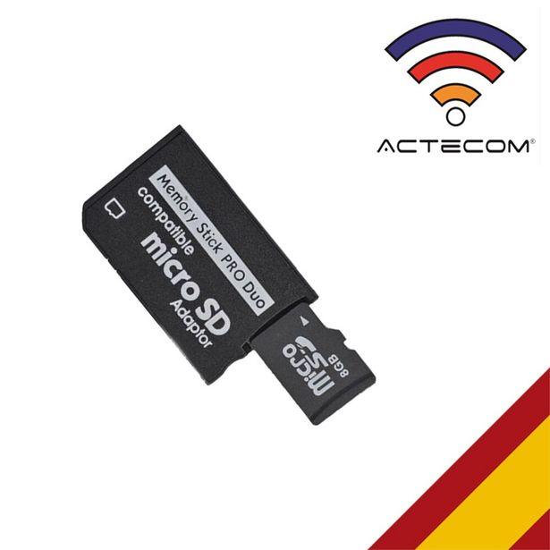Oferta de ACTECOM-ADAPTADOR de TARJETA MICRO SD/ MICROSD A PSP por 1€