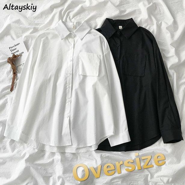 Oferta de Camisas lisas simples que combinan con todo para mujer por 8,9€