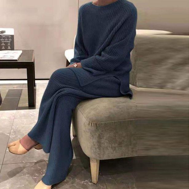 Oferta de Conjunto de 2 piezas de ropa de casa para mujer por 18,46€
