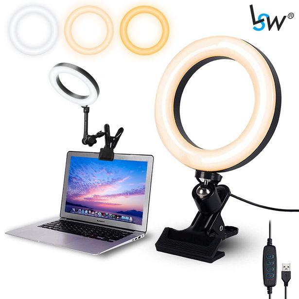 Oferta de Anillo de luz Selfie para ordenador portátil por 14,47€