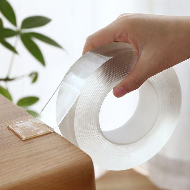 Oferta de Cinta adhesiva transparente de doble cara por 1,53€