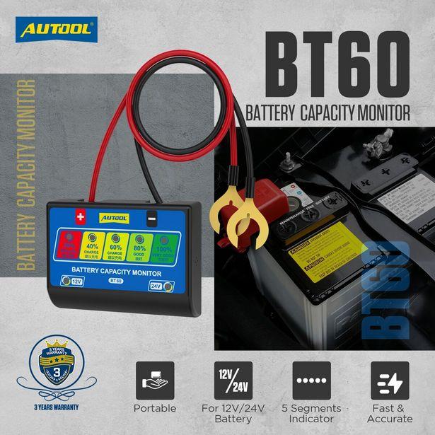 Oferta de AUTOOL-probador de batería de coche BT60 por 11,59€
