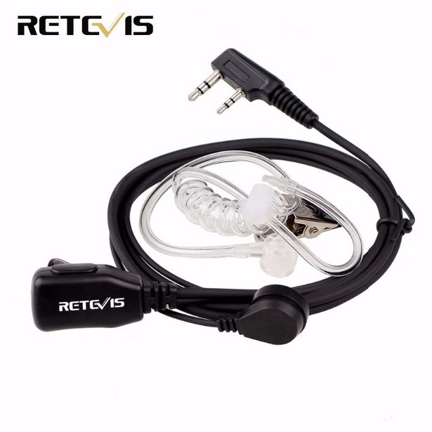 Oferta de Retevis-auricular de walkie-talkie PTT Para Kenwood BAOFENG UV-5R BF-888s Retevis H777 RT622 por 8,07€