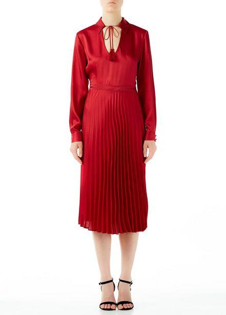 Oferta de Vestido midi plisado por 50,5€