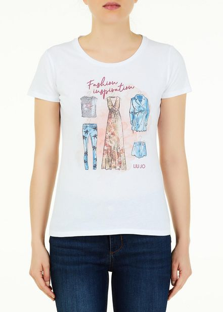 Oferta de Camiseta con estampado por 23,5€