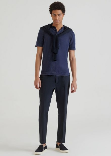 Oferta de Camiseta con cuello panadero y botones por 62,93€