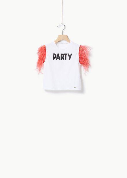 Oferta de Camiseta con plumas por 57€