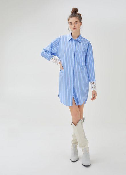 Oferta de Vestido camisero de rayas por 95,9€