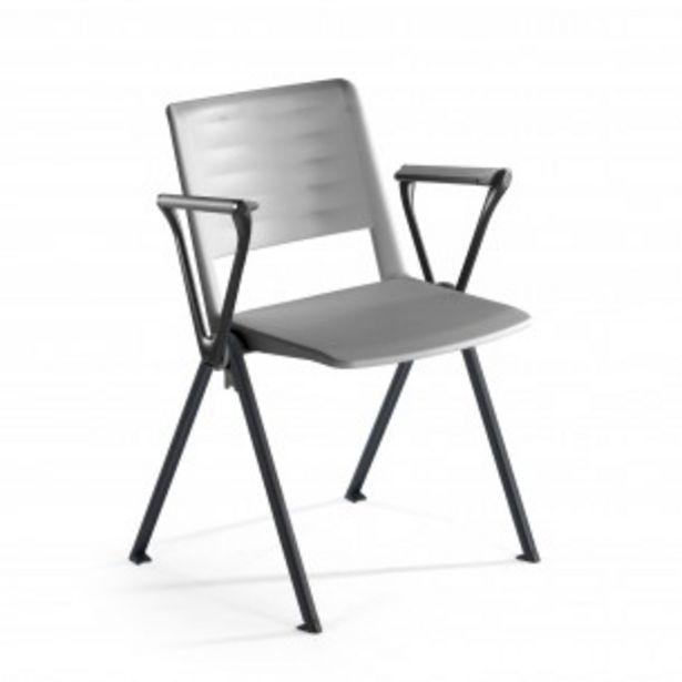 Oferta de Silla confidente Replay, 4 patas con brazos gris por 79€