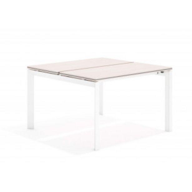 Oferta de Work trio mesa bench 123 blanco por 247,5€
