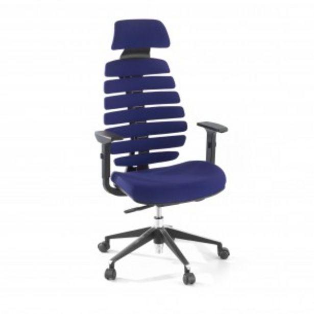 Oferta de Silla de oficina Spine con reposacabezas azul por 349€