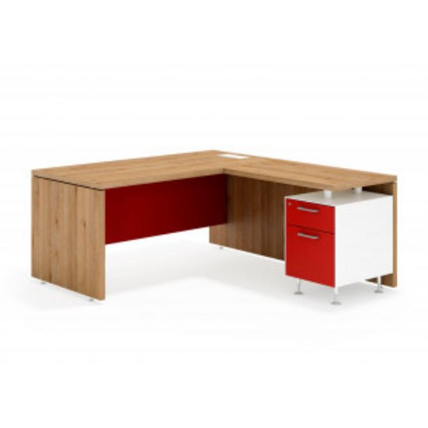 Oferta de System mesa con ala cajon/archivo blanco por 471,6€
