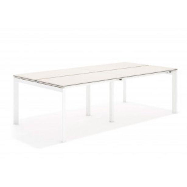 Oferta de Work trio mesa bench doble 123 blanco por 451,8€