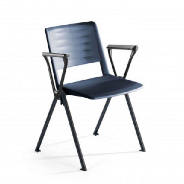 Oferta de Silla confidente Replay, 4 patas con brazos azul por 79€