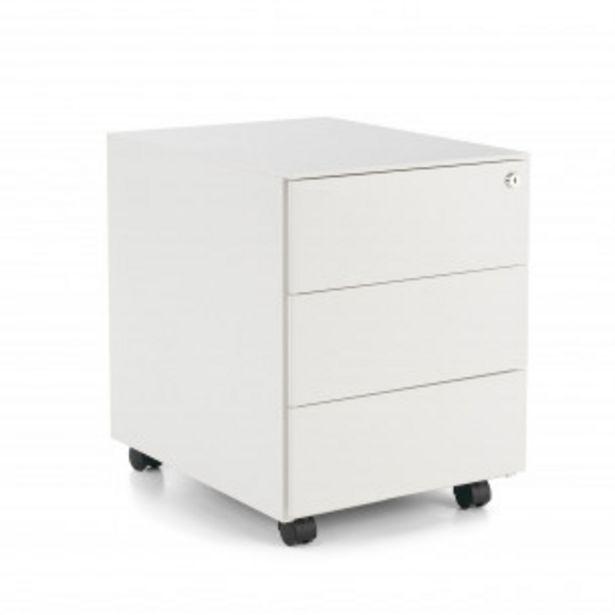 Oferta de Buc steelbox 3 cajones blanco por 143,1€