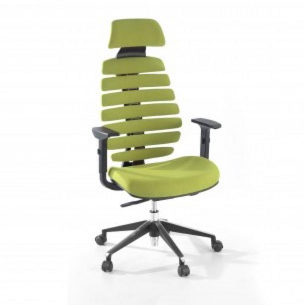 Oferta de Silla de oficina Spine con reposacabezas verde por 349€