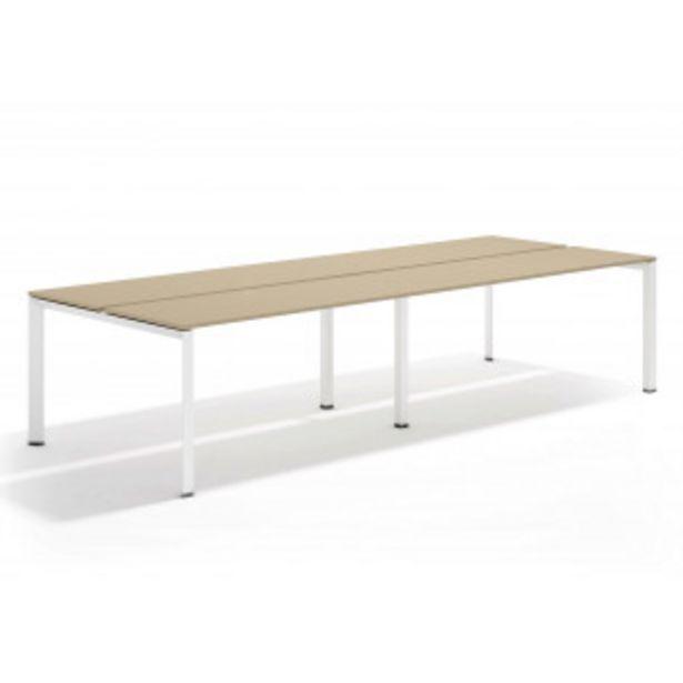 Oferta de Link mesa bench doble 126 blanco por 545,4€
