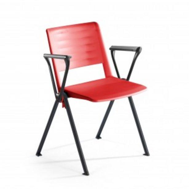 Oferta de Silla confidente Replay, 4 patas con brazos rojo por 79€