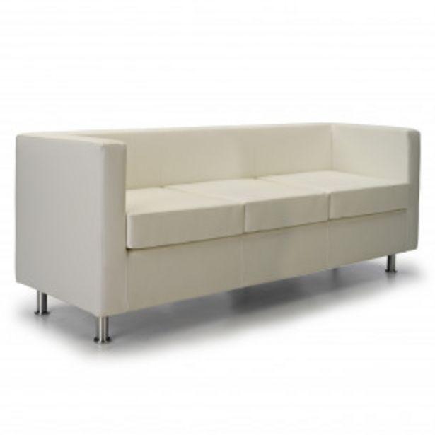 Oferta de Sofa viena 3 plazas blanco por 404,1€