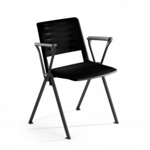 Oferta de Silla confidente Replay, 4 patas con brazos negro por 79€