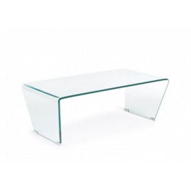 Oferta de Mesa de centro cristal curvo por 175€