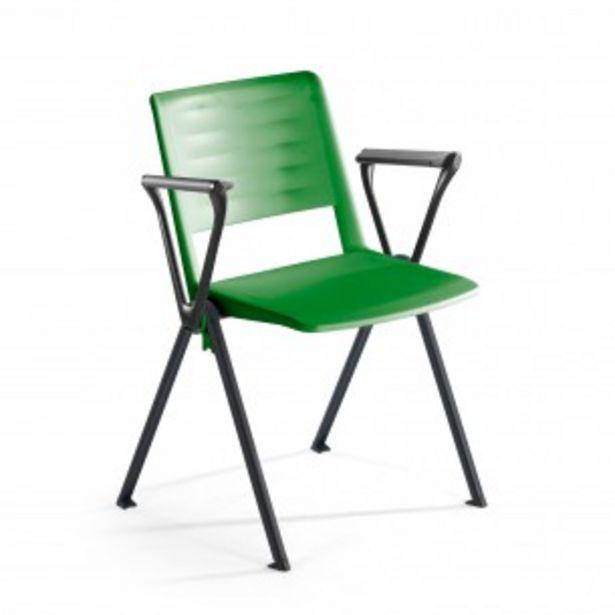 Oferta de Silla confidente Replay, 4 patas con brazos verde por 79€