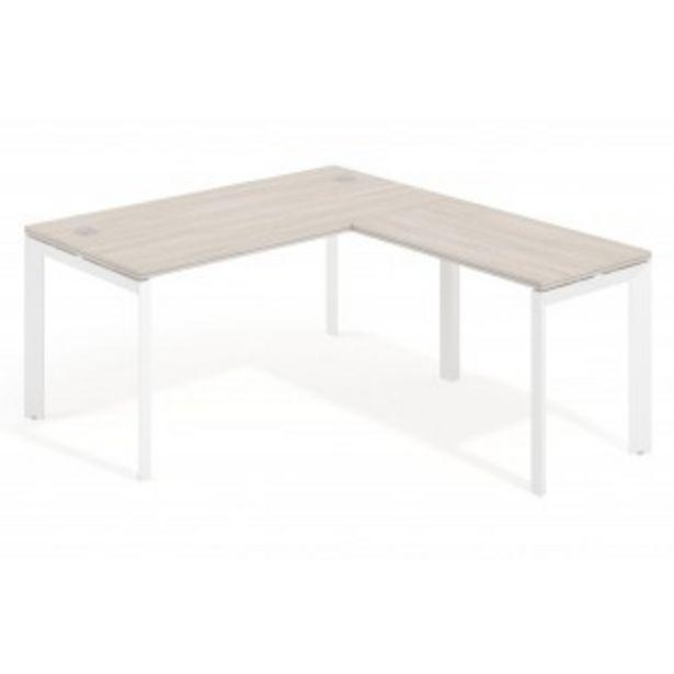 Oferta de Mesa de oficina con ala Work Trio estructura blanca por 300€