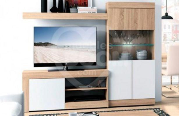Oferta de Composición de salón Mogan de 215 cm en blanco y cambrian 002-160 ENVI por 383€