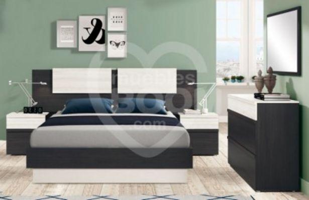 Oferta de Dormitorio adulto cabecero y 2 mesitas OFE DIA L4 por 211€