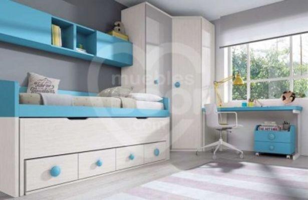 Oferta de Dormitorios juveniles con armario y zona estudio 019-063 por 1771€