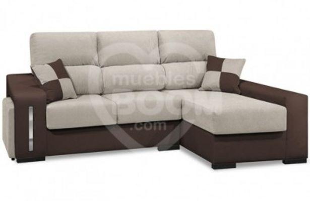 Oferta de Chaise longue derecha reclinable extraible con arcón y pouffs... por 582€