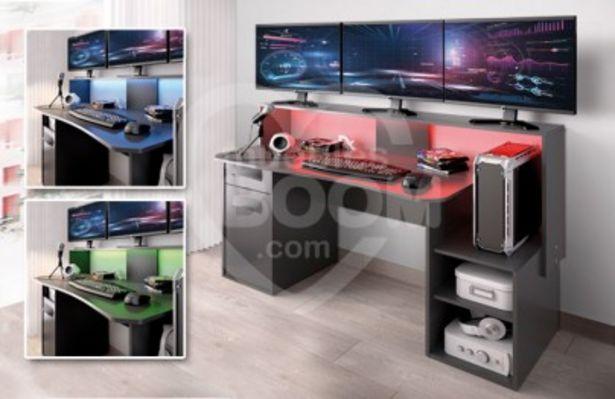 Oferta de Mesa Gaming con luces LED colores OFE MES G1 por 185€