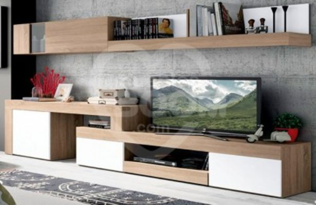 Oferta de Composición de salón de 245 a 313 cm en blanco y cambrian 002-160 ENVI por 391€
